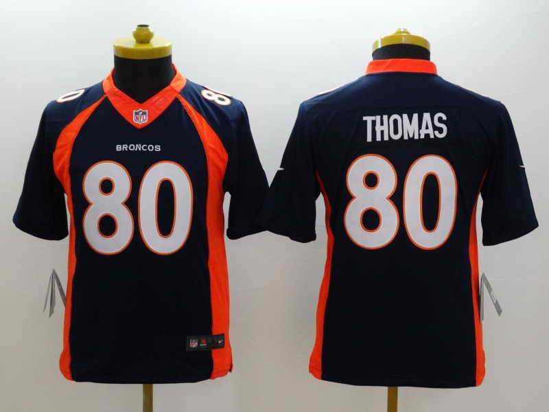 NEW Nike Denver Broncos #18 Manning Orange Elite JerseyNEW Nike Denver Broncos #80 Thomas Blue Kids Jersey