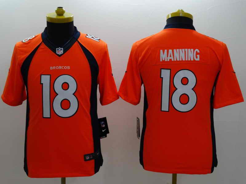NEW Nike Denver Broncos #18 Manning Orange Elite JerseyNEW Nike Denver Broncos #18 Manning Orange Kids Jersey