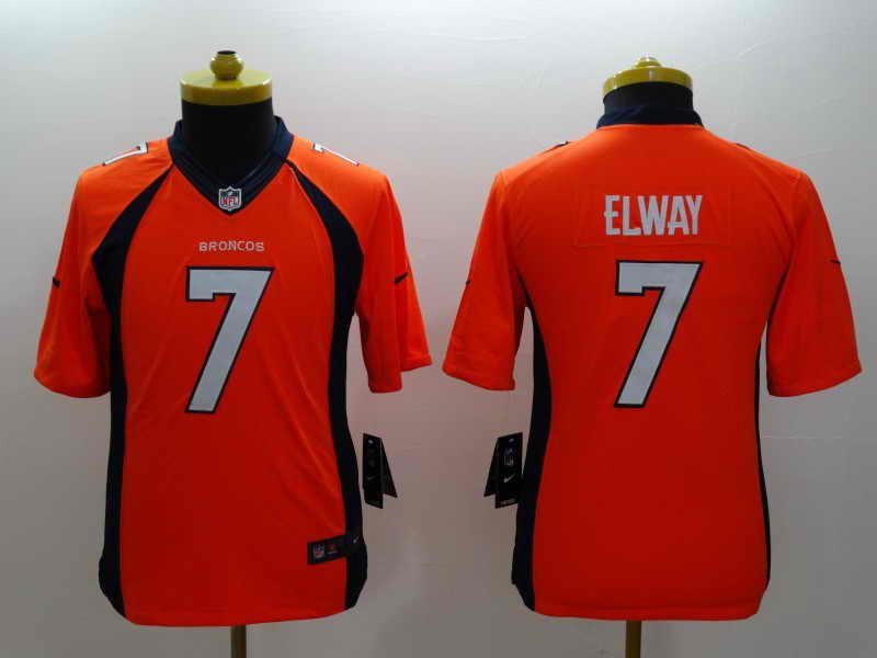 NEW Nike Denver Broncos #18 Manning Orange Elite JerseyNEW Nike Denver Broncos #7 Elway Orange Kids Jersey