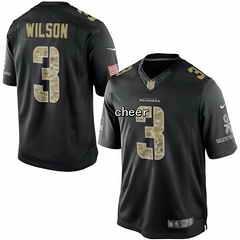 NFL NIKE Jersey Seattle Seahawks #3 Wilson black Jersey