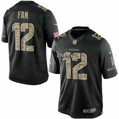 NFL NIKE Jersey Seattle Seahawks #12 fan black Jersey