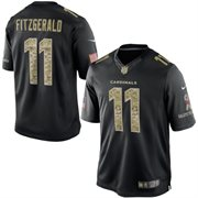 Men's Arizona Cardinals Larry Fitzgerald Nike Black Salute To Service Jersey