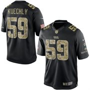 Men's Carolina Panthers Luke Kuechly Nike Black Salute To Service Jersey