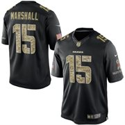Men's Chicago Bears Brandon Marshall Nike Black Salute To Service Jersey
