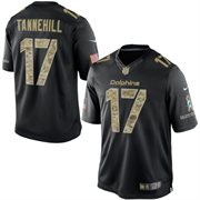 Men's Miami Dolphins Ryan Tannehill Nike Black Salute To Service Jersey
