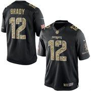 Men's New England Patriots Tom Brady Nike Black Salute To Service Jersey