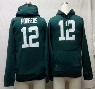 Nike Green Bay Packers #12 Aaron Rodgers Green Kids Hoody