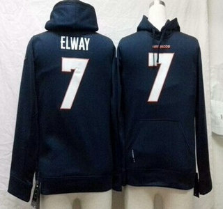 Nike Denver Broncos #7 John Elway Blue Kids Hoody