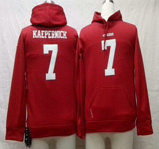 Nike San Francisco 49ers #7 Colin Kaepernick Red Kids Hoody