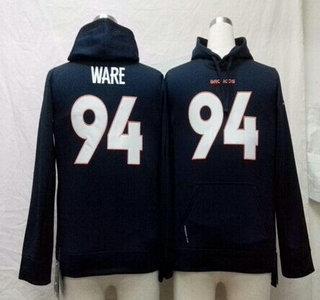 Nike Denver Broncos #94 DeMarcus Ware Navy Blue Kids Hoody