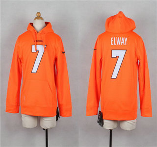 Nike Denver Broncos #7 John Elway Orange Kids Hoody