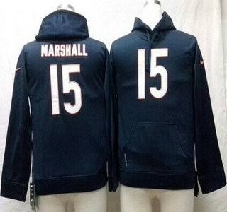 Nike Chicago Bears #15 Brandon Marshall Blue Kids Hoody