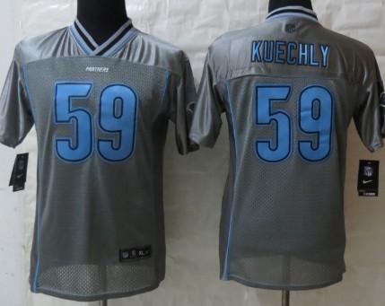 Nike Carolina Panthers #59 Luke Kuechly 2013 Gray Vapor Kids Jersey