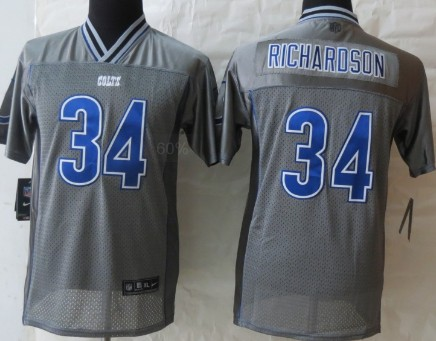 Nike Indianapolis Colts #34 Trent Richardson 2013 Gray Vapor Kids Jersey