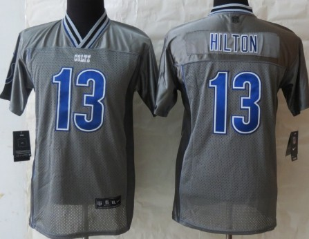 Nike Indianapolis Colts #13 T.Y. Hilton 2013 Gray Vapor Kids Jersey