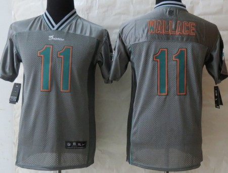 Nike Miami Dolphins #11 Mike Wallace 2013 Gray Vapor Kids Jersey