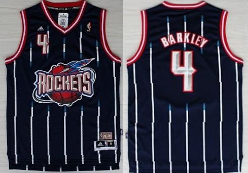 Houston Rockets #4 Charles Barkley ABA Hardwood Classic Swingman Navy Blue Jersey
