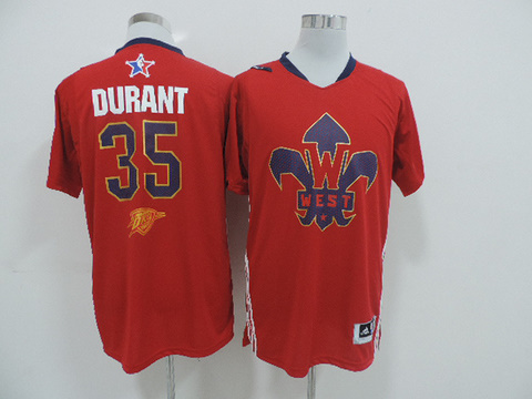Oklahoma City Thunder 35 Kevin Durant All-Star 2014 Western red jerseys