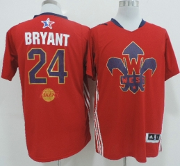 Kobe Bryant 2014 NBA All Star Game Western Conference Swingman Jersey Red