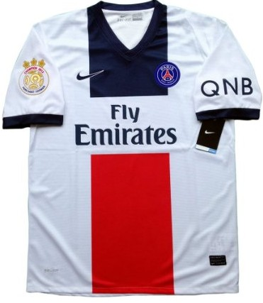 New 2013-14 Paris Saint Germain PSG Away Soccer jersey The champion 2013 paris patch and QNB sponsor Can Custom Any Number And Name