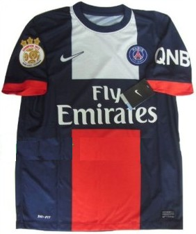 New 2013-14 Paris Saint Germain PSG Home Soccer jersey The champion 2013 paris patch and QNB sponsor Can Custom Any Number And Name