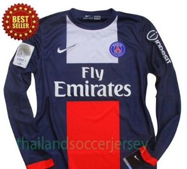 New 2013-14 PARIS SAINT GERMAIN PSG Home LONG SLEEVES Football Shirt Soccer Jersey Can Custom Any Number And Name