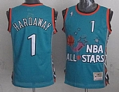 Mitchell And Ness Magic #1 Anfernee Hardaway Light Blue 1996 All Star Stitched NBA Jersey