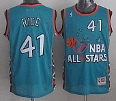 Mitchell And Ness Pelicans #41 Glen Rice Light Blue 1996 All Star Charlotte Hornets Stitched NBA Jersey