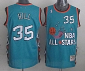 Mitchell-And-Ness-Pistons--35-Grant-Hill-Light-Blue-199Mitchell And Ness Pistons #35 Grant Hill Light Blue 1996 All star Stitched NBA Jersey