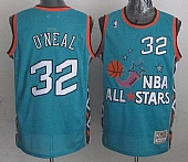 Mitchell And Ness Magic #32 Shaquille O'Neal Light Blue 1996 All Star Stitched NBA Jersey