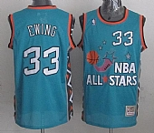 Mitchell And Ness Knicks #33 Patrick Ewing Light Blue 1996 All Star Stitched NBA Jersey