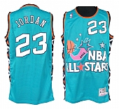 Mitchell and Ness Bulls #23 Michael Jordan Baby Blue 1996 All Star Stitched NBA Jersey