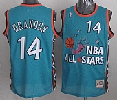 Mitchell And Ness Cavaliers #14 Terrell Brandon Light Blue 1996 All Star Stitched NBA Jersey