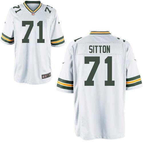 Men Nike Josh Sitton White Green Bay Packers Game Jersey