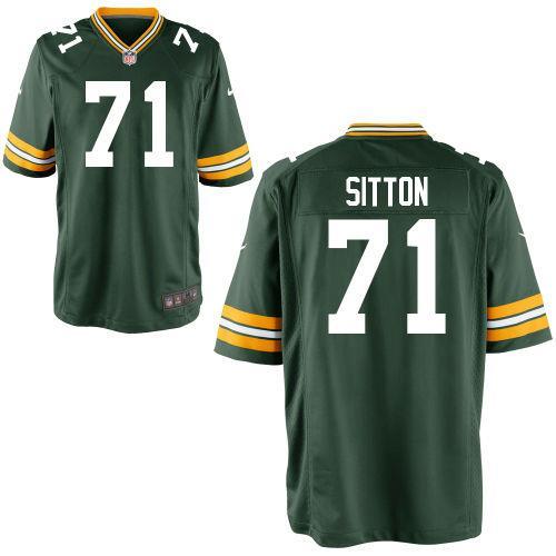 71 Men Josh Sitton Game Green Bay Packers Green Jersey