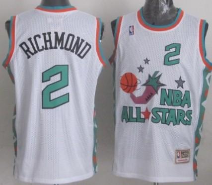 NBA 1996 All-Star #2 Mitch Richmond White Swingman Thr