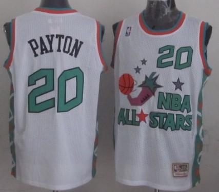 NBA 1996 All-Star #20 Gary Payton White Swingman Throw