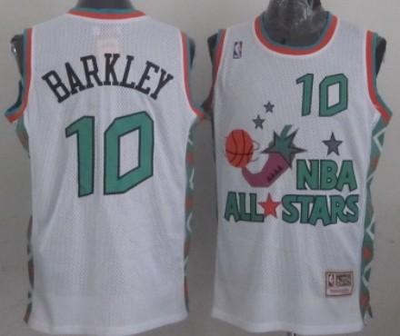NBA 1996 All-Star #10 Charles Barkley White Swingman T