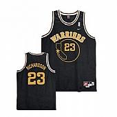 Golden State Warriors #23 Jason Richardson Black Throwback Stitched NBA Jersey