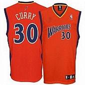 Golden State Warriors #30 Stephen Curry Orange Stitched NBA Jersey