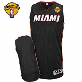 Revolution 30 Miami Heat Blank Black Finals Patch Stitched NBA Jersey