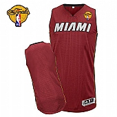 Revolution 30 Miami Heat Blank Red Finals Patch Stitched NBA Jersey