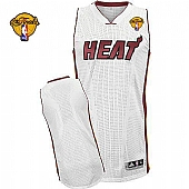 Revolution 30 Miami Heat Blank White Finals Patch Stitched NBA Jersey