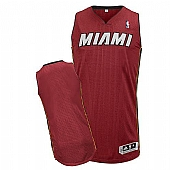 Revolution 30 Miami Heat Blank Red Stitched NBA Jersey