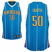 New Orleans Hornets #50 Emeka Okafor Baby Blue Stitched Jerseys