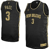 New Orleans Hornets #3 Chris Paul Black Stitched Classical Style Jerseys