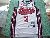 New Orleans Hornets #3 Chris Paul White Throwback Stitched NBA Jersey