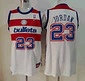 Nike Washington Bullets #23 Michael Jordan White Swingman Stitched NBA Jersey