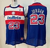 Nike Washington Bullets #23 Michael Jordan Blue Soul Swingman Stitched NBA Jersey