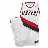 Revolution 30 Blazers Blank White Stitched NBA Jersey